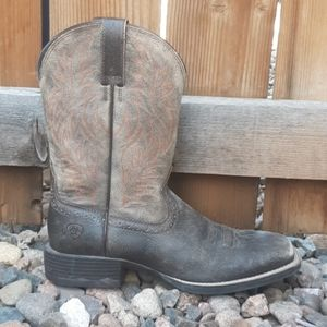 Ariat western leather pull on boots mens sz 8D